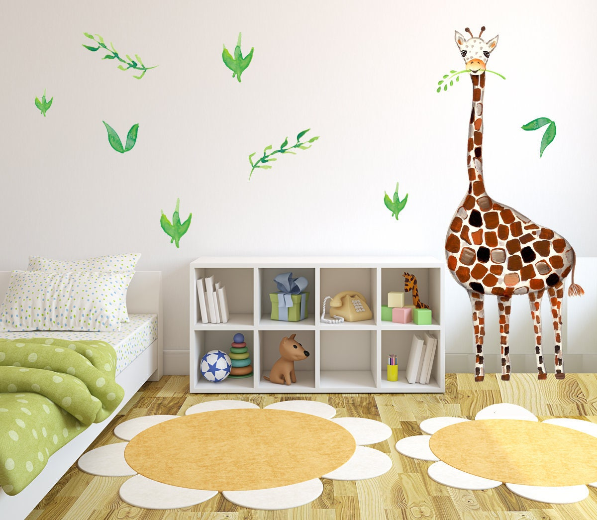 Safari Room Decor Giraffe Giraffe Wall Decal Baby Room Nursery