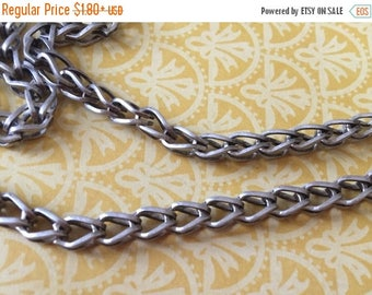 SALE NEW High Quality FOXTAIL link Brushed antique silver plated 5mm x 3mm chain