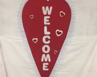 Long Valentine Welcome Heart