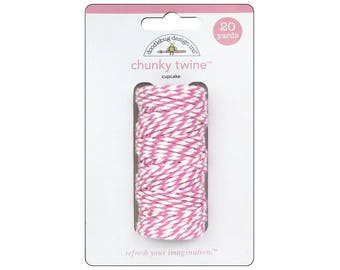 CUPCAKE Chunky Baker's Twine - Cotton Twine - 20 yards - Favor Packaging - Doodlebug - Invitation supply