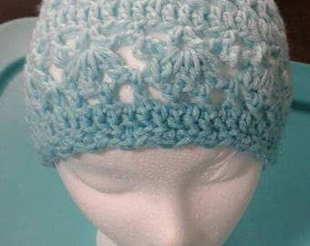 Blue Lacy Lady Hat