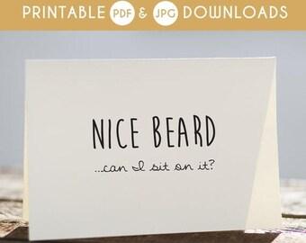 50% OFF printable boyfriend card, anniversary boyfriend card, funny boyfriend birthday card, boyfriend funny card, beard boyfriend card