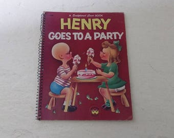 Children's Book: Henry Goes To A Party, Hardcover, Spiral Bound, In Very Good Condition, 1955.