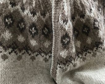 Hand knit Fair Isle Sweater