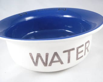 blue water bowl for dog water bowl for cat water dish custom blue bowl for water bowl blue cat water bowl for pet gift for dog christmas