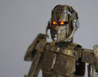 CyberWarriro robot sculpture metal action figure