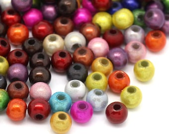 500 pcs Miracle Illusion Acrylic Round Bubble Gum Spacer Beads - 4mm - Assortment