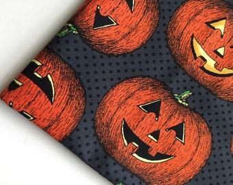 Hallowgraphix by Jason Yenter for In The Beginning Fabrics, Jack O Lantern Fabric, Halloween Fabric, OOP, HTF