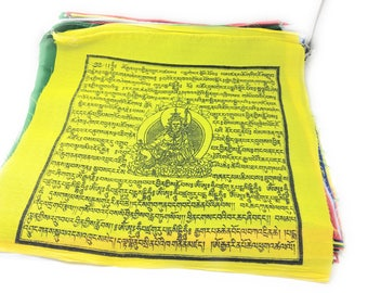 Extra Large Handmade Guru rinpoche Prayer flags 27 feet long