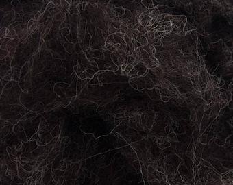 Corriedale Bulky Wool Roving - Badger - 4 ounces