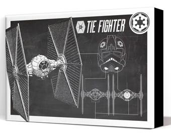 Star Wars Canvas - Tie Fighter - Canvas Art Print, Star Wars Art, Star Wars Patent Art, Fan Art, Star Wars Gift, Patent Art, Industrial
