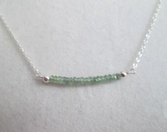 Alexandrite June birthstone dainty necklace- natural genuine gemstone beads