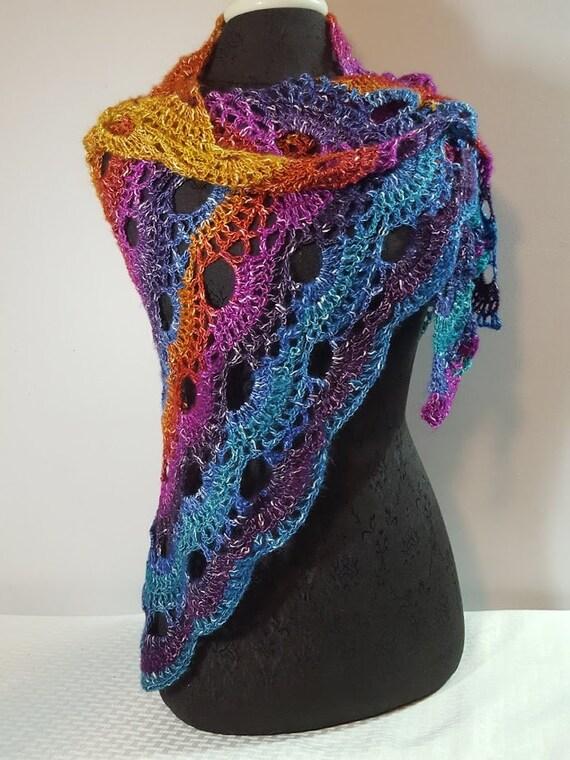 Sunset shawl, beach wedding, crochet lace shawlette, Mothers Day wrap, bridesmaids shawl, boho chic shawl, wedding cruise, Mexicana shrug