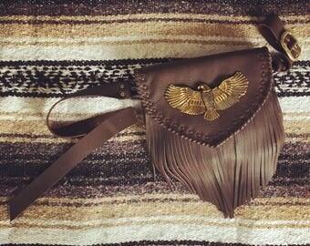 Move West Concho Fringe Belt Bag