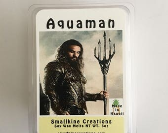 Aquaman Inspired Soy Wax Melts 3oz - Made in Hawaii