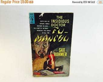 SUMMER BLOWOUT Vintage Mystery Book The Insidious Doctor Fu Manchu by Sax Rohmer 1961 Edition Paperback