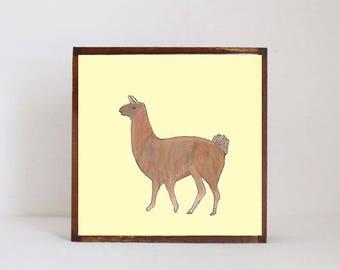 llama southwestern nursery art -peru wall art- animal prints- gender neutral baby- southwest children wall decor- nursery- redtilestudio