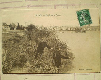 Oissel - Bords de la Seine - Early 1900s - Antique French Postcard