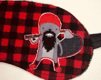 Hipster Lumberjack Beaver Sleep Mask