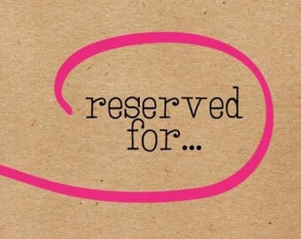 Reserved for @hmwalker917