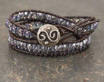 Infinity Jewelry Silver Turquoise Lavender Purple Infinity Bracelet Sterling Silver Gemstone Bracelet Friendship Jewelry Forever Jewelry