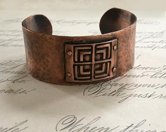 Geometric Jewelry | Copper Rivets | Copper Cuff Bracelet