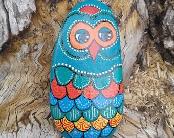 Painted Owl Stone - large