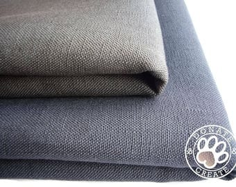 Linen fabric remnants Sale! Smoky charcoal, 1/2 yard linen fabric strip for DIY sewing & Home decor; Medium weight pure linen flax off cuts;