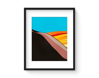 FOOTHILLS no.78 - Mid Century Style Modernist Abstract Landscape Print