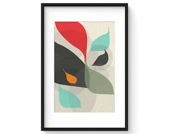 FLOW no.24 - Giclee Print - Mid Century Modern Danish Modern Style Minimalist Modernist Eames Abstract
