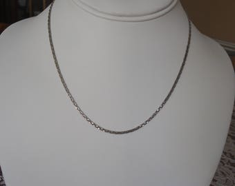 "Vintage AVON 16"" Sterling Silver Serpentine Chain w/ Spring Ring Closure, 4 Grams"