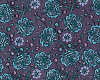 SALE 10% Off - Bees Knees in Lapis PWTP026 - Tula Pink  BIRDS & Bees  - By the Yard