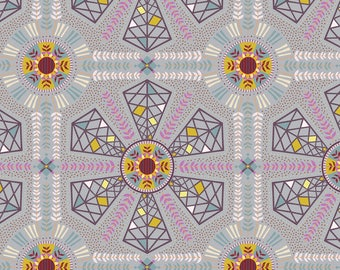 Horizons Kathy Doughty, WIND POWER in DREAMY, Free Spirit Fabric, Woodland Fabric, Australian, Quilt Fabric, Geometric, Fabric By the Yard