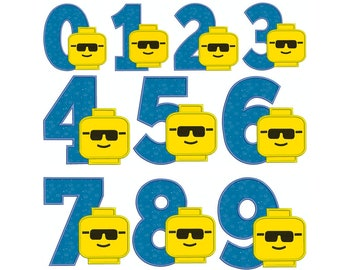 LEGO Numbers - Machine Applique Embroidery - Instant Digital Download