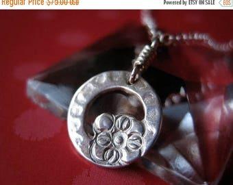 SALE Mini Wreath Sterling Silver Necklace