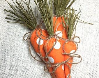 Easter Carrots, Easter Decoration, Easter Basket, Easter Decor, Easter Bunny, Fabric Carrot, Easter Basket Filler, Easter Gift, Easter Party