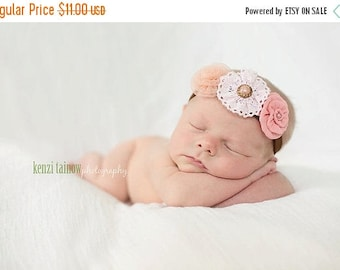 10% SALE Newborn headbands Baby headband Adult headband Child headband Baby hairbow Photo prop Preemie headband Teen headband flower headban
