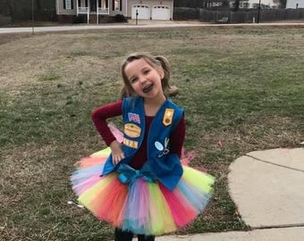 Sewn Girl Scout Cookie Events Tutu Daisy Brownie Junior Cadette Senior