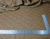 2 pieces of mocha brocade coupon fabric