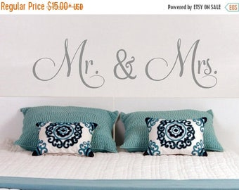 20% OFF Mr. & Mrs -Vinyl Lettering wall decals words wedding gift family friends decal graphics sticker love bedroom Home decor itswrittenin
