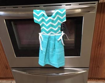 Kitchen Towel over oven or dishwasher handle - cb