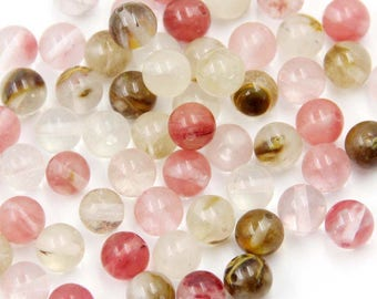 8mm 140Pcs Watermelon Stone Beads Loose Finding For Handwork-- ja2061