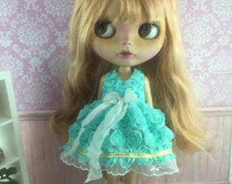 Blythe Garden of Roses Dress - Turquiose