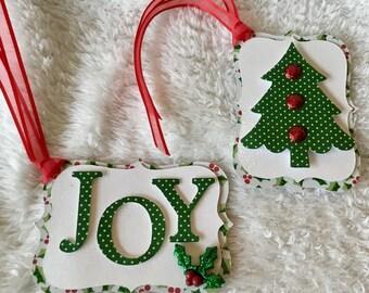Christmas Joy and Tree Gift Tag Set