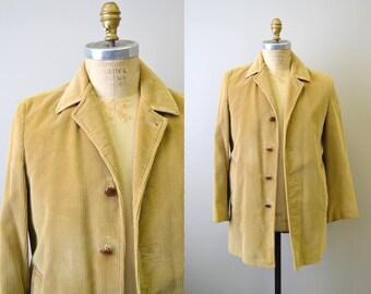 1960s Lakeland Tan Corduroy Coat