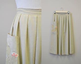 1970s Razook's Cactus Applique Skirt