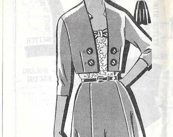 Vintage 1960s Mail Order 8218 Dress And Jacket Sewing Pattern Plus Size Bust 40