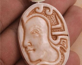 Stylised Ancient   Pendant 925 Sterling Silver E542