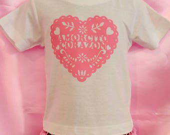 Amorcito Corazon girls shirt