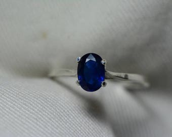 Sapphire Ring, Blue Sapphire Solitaire Ring 0.96 Carat Appraised at 750.00, September Birthstone, Natural Sapphire Jewelry, Oval Cut
